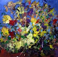 Abstract Flowers Still Life