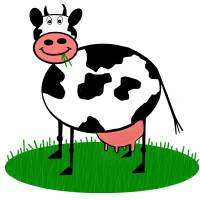 cartoon cow Art Prints & Posters by DaveR