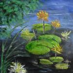 """Yellow Water Lilies"" by BarbaraHarper"