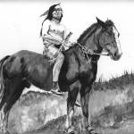 """Native American Indian,Chief Joseph on horse"" by Texaslady"