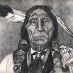 """Native American Indian,Chief Wolf Robe"" by Texaslady"