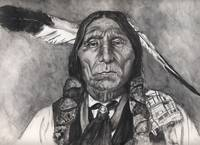Native American Indian,Chief Wolf Robe