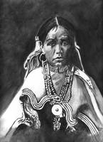 Native American Indian Maiden ,Jicarilla Apache