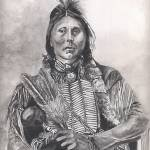 """Native American Indian,Two Hatchet, Kiowa"" by Texaslady"