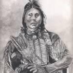 """Native American Indian,Two Hatchet, Kiowa"" by Texaslady"