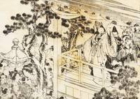 A Scene of a Shinto Shrine Dance