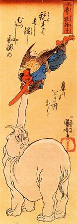 Elephant Catching a Flying Tengu