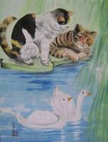 Cats and swans