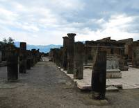The FORUM OF POMPEII - Column fragments