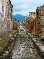 Roman City Pompeii - Mount Vesuvius in background