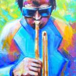"""Miles Davis Portrait-Cool Jazz"" by phoenixwmn"