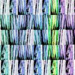 """Bamboo Horizontal variation blues and greens"" by LeslieTillmann"
