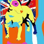 """Pop Art Bull Terrier"" by victoriasponge"