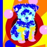 """""""Pop Art Puppy"""" by victoriasponge"""