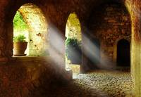 Holy Light in a Monestry on Crete