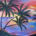 """Sunset thru the Palms"" by PennyH"