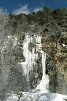 Ice-Cascade. Caucasus Mountains, North Ossetia.