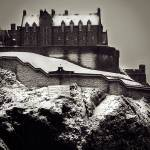 """Edinburgh Castle SnowfallRB"" by imagesbycadac"