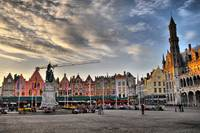 Bruges Markt at Dawn