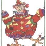 """""""Clown Chicken"""" by janporterfieldwatercolors"""