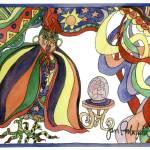"""""""Fortune Telling Chicken"""" by janporterfieldwatercolors"""