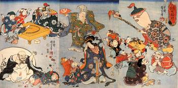 Kuniyoshi The Seven Goods of Good Fortune