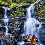 """Lodore Falls - (Wentworth Falls) Blue Mountains NS"" by jasonpang88"