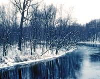 Michigan Winter River Bend