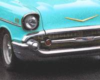 Blue 57 Chevy grille