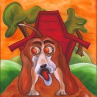Whimpy The Basset Hound Art Prints & Posters by Joshua Matherne