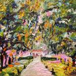 """Avenue of Oaks South Carolina Oil Painting by Gine"" by GinetteCallaway"