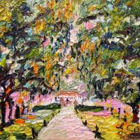 """Avenue of Oaks South Carolina Oil Painting by Gine"" by Ginette Callaway"