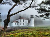 Lighthouse in the Fog Variation