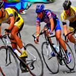 """""""3 men cycling"""" by ArtbySachse"""