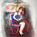 """Woman on Red Rocker"" by rjv"