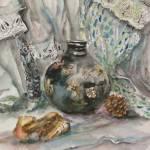 """""""Still life with black vase"""" by rita77"""