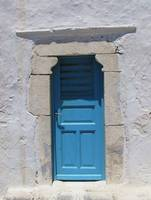 Greece - Painted Blue Door in Mykonos