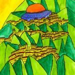 """Abstract Jerusalem 6"" by Aurelie"