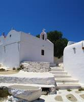 Traditional White washed Church, Mykonos, Greece