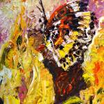 """Butterfly On Yellow Flower Original Oil Painting b"" by GinetteCallaway"