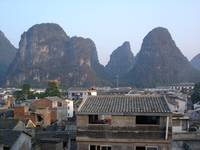 Yangshuo From the Hotel Roof