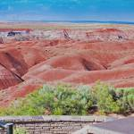 """red hills in painted desert"" by lwoodburn"