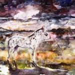 """Appaloosa Spirit Horse Original Painting by Ginett"" by GinetteCallaway"