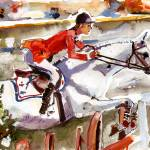 """Abdullah von Donauwind 1984 Olympics Painting by G"" by GinetteCallaway"