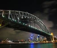 Sydney Harbour Bridge & Sydney Opera House by nigh