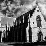 """church and clouds #2 in B&W"" by wrightphotography"