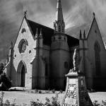 """oudtshoorn cathedral B&W"" by wrightphotography"