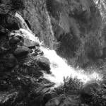"""Over The Waterfall (B&W)"" by alexrice"