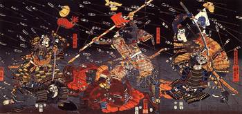 The Last Stand of the Kusunoki at Shijonawate