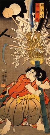 The Young Benkei Holding a Pole